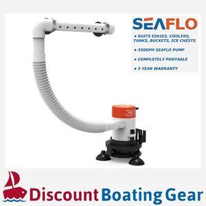 NEW-SEAFLO-Portable-12v-Livewell-Aerator-Pump-Kit-for-Esky-Cooler-Bucket-amp-Boats