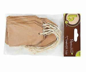 20 Natural Recycled Kraft Paper Gift Tags Luggage Tag Style