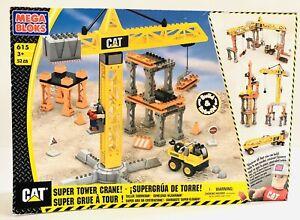 Mega Bloks Cat Super Tower Crane 52 Pieces 615 2006