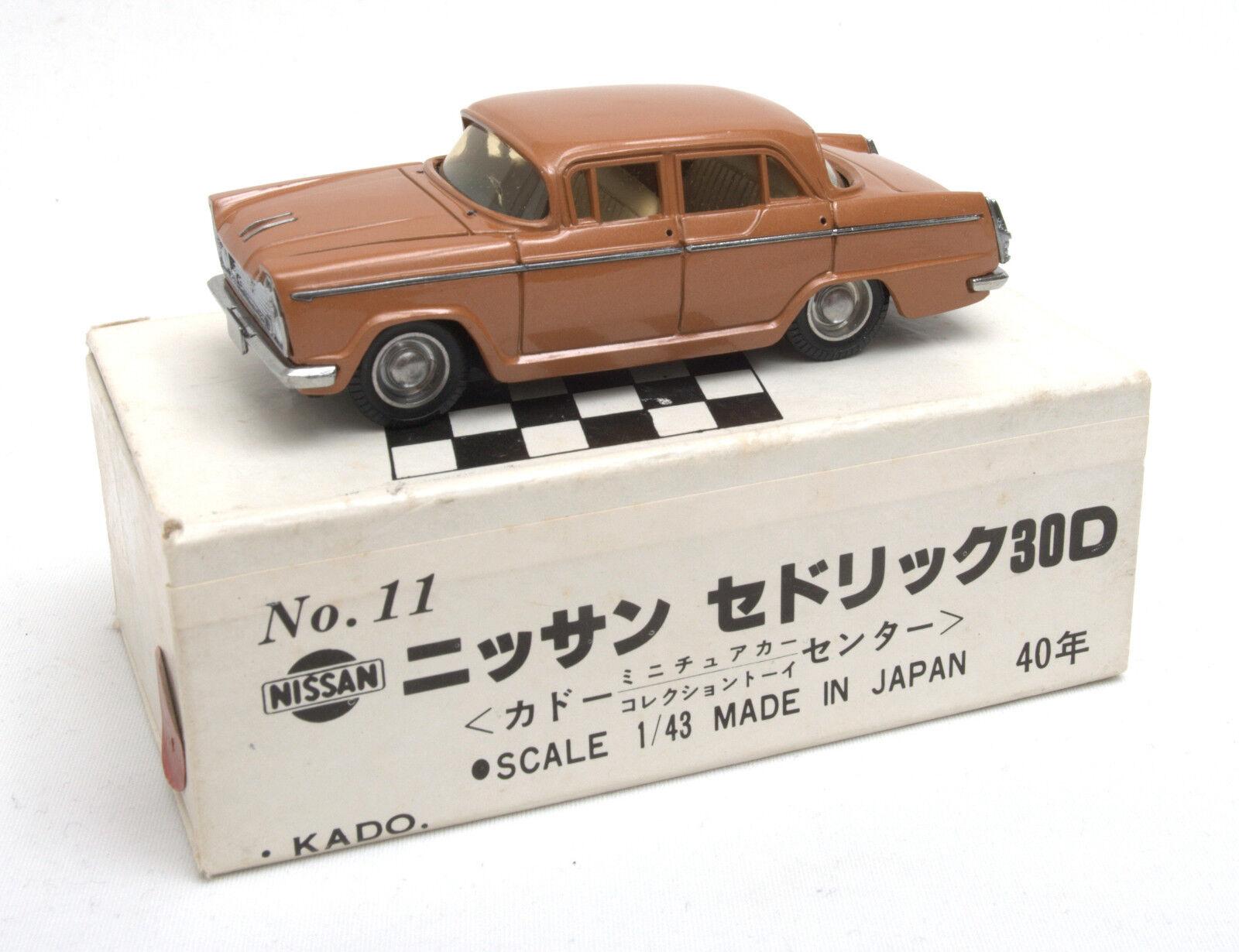 mejor vendido Kado (Japón) 1 43 Nissan Cedric 30D 30D 30D 1960 Modelo No.11  sin usar en caja   presentando toda la última moda de la calle