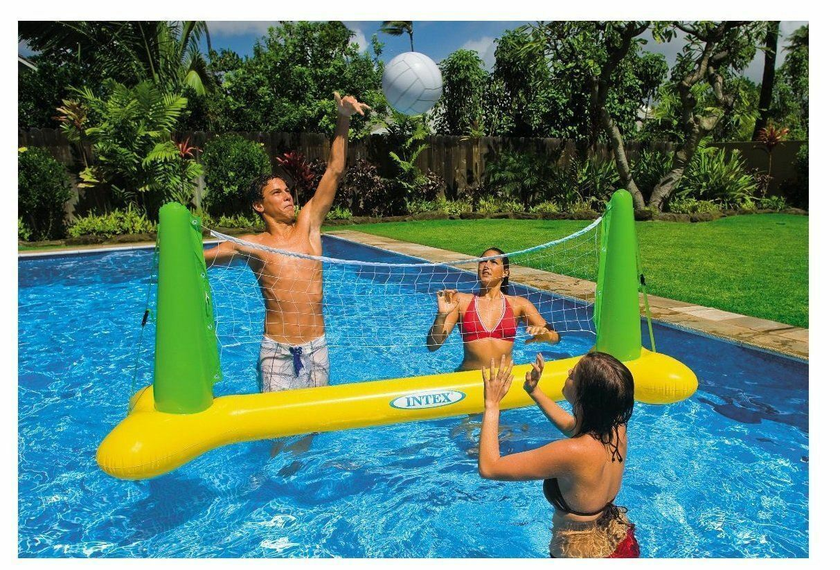 Intex Inflatable Swimming Pool Volleyball Game Children Fun Playtime