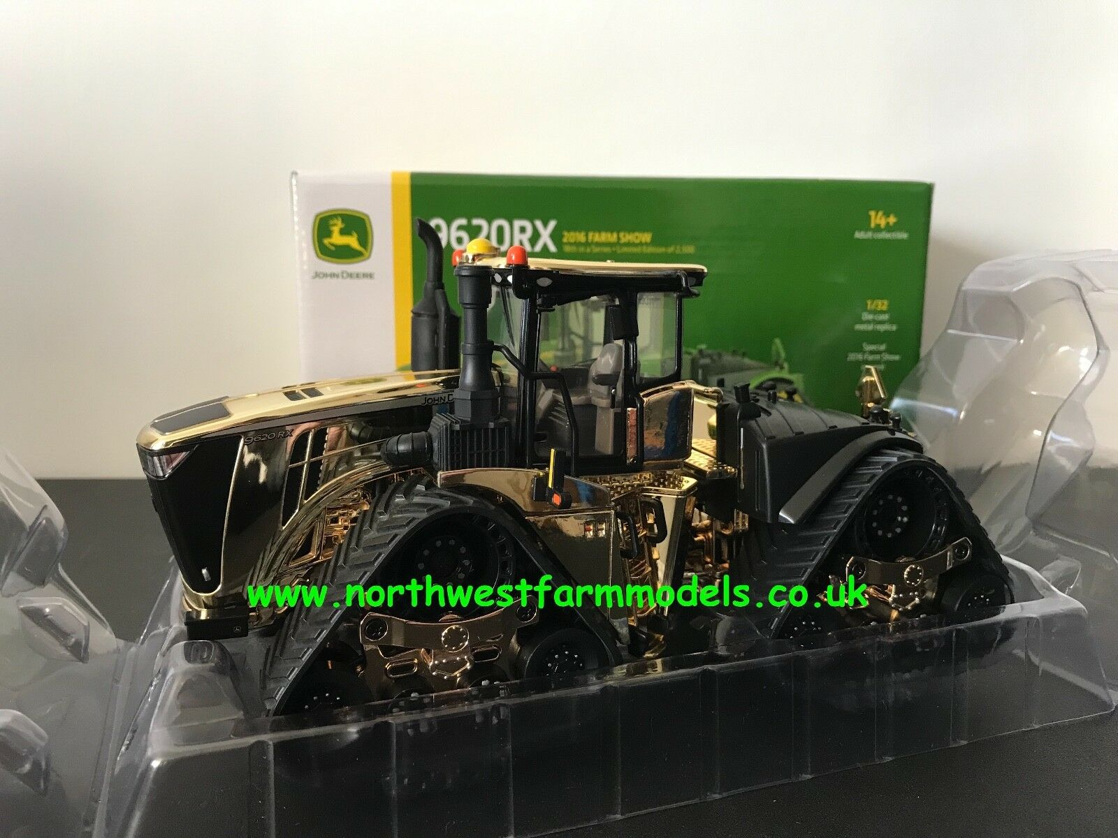ERTL BRITAINS FARM 1 32 SCALE JOHN DEERE 9620RX Gold 4WD TRACKED IN STOCK