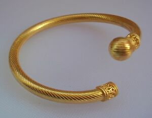 Image Is Loading 22k Gold Bracelet Bangle Cuff Traditional Design Rajasthan