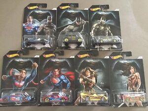 Hot-wheels-Set-7-Batman-Superman-Wonder-Woman-NEW-Batman-Vs-Superman