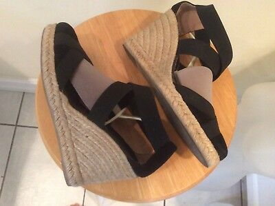 black ankle strap espadrille wedges