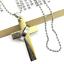 Lord/'s Oración Cruz Y Anillo Collar de Oro Plata//Azul//Negro Acero Inoxidable