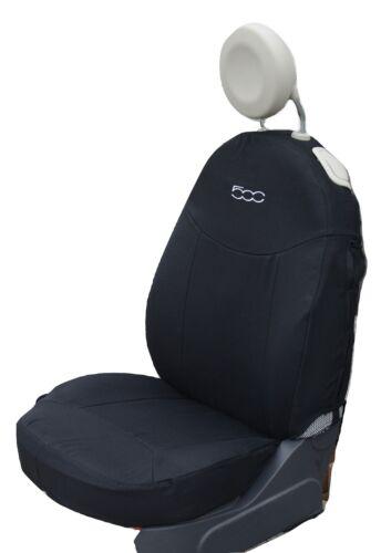 Schonbezüge Fiat 500 maßgeschniedert Sitzbezüge Fiat 500 Komplett Schwarz
