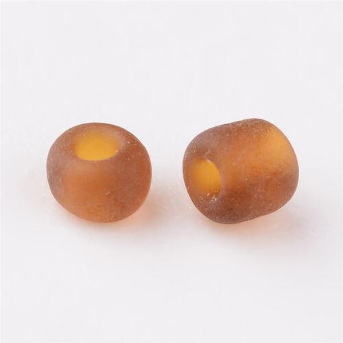 50 g ronde en verre 12//0 givré Perles de Rocaille de 3304pcs//50g 2 Mm Perles Artisanat