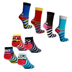 4 - 12 Paar freche Bande Sneaker Socken Kinder Strümpfe Damen Mädchen Jungen