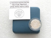1984 Royal Mint British Scottish Thistle £1 One Pound Silver Proof Coin Box Coa