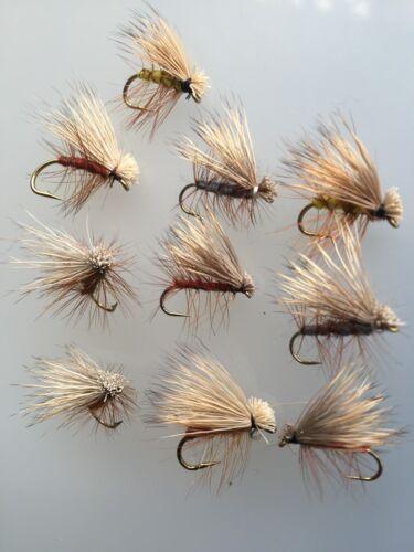 Fly Fishing ELK HAIR CADDIS Pack #81 10 Size 8-12 Best Quality Flies UK Ten