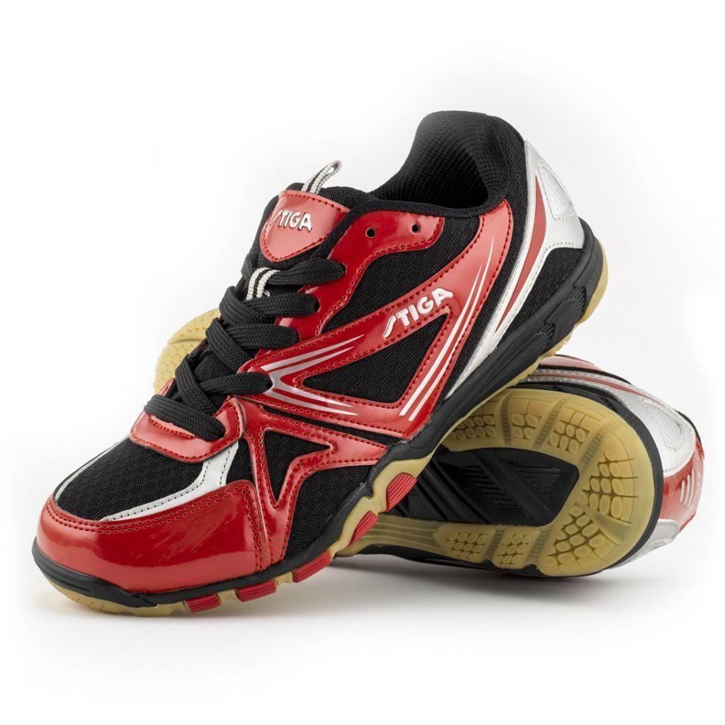 Stiga Unisex's Instinct Table Tennis Indoor shoes 15600314 Black   Red 18Y