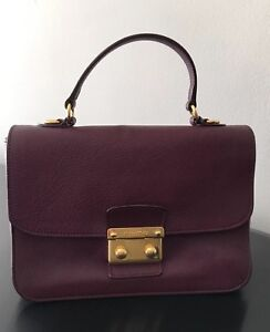 Image is loading 100-Authentic-Pre-Owned-Miu-Miu-Madras-Leather- b47209a5dfb3f
