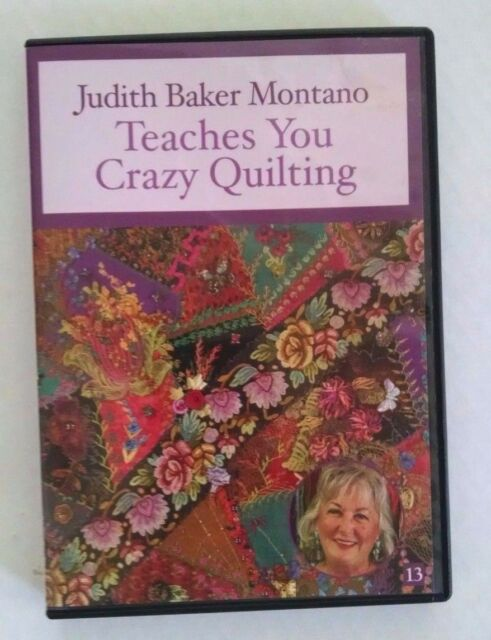 Judith Baker Montano Teaches you Crazy Quilting DVD