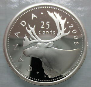 2008-CANADA-25-CENTS-PROOF-SILVER-QUARTER-HEAVY-CAMEO-COIN
