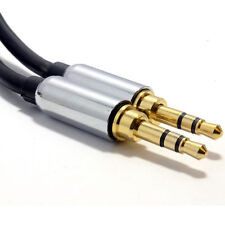 50cm PRO BLACK 3.5mm Jack Male to Male Stereo Audio Cable Lead GOLD [006906]