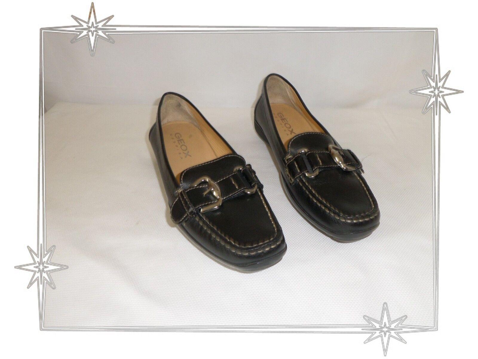 B - Magnifiques shoes Mocassins  black Geox Pointure 38