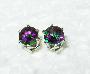 MYSTIC-TOPAZ-GREEN-PURPLE-GENUINE-4MM-STUD-EARRINGS-925-STERLING-SILVER