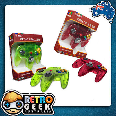 Genuine Style - NINTENDO 64 WATERMELLON Red / LIME Green Controller N64 Joystick