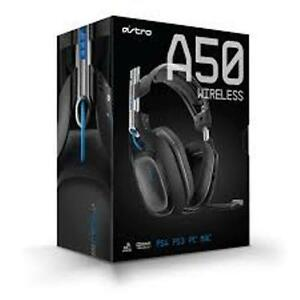 ASTRO-A50-Wireless-Gaming-Headset-w-MixAmp-For-PS4-PS3-PC-amp-Mac