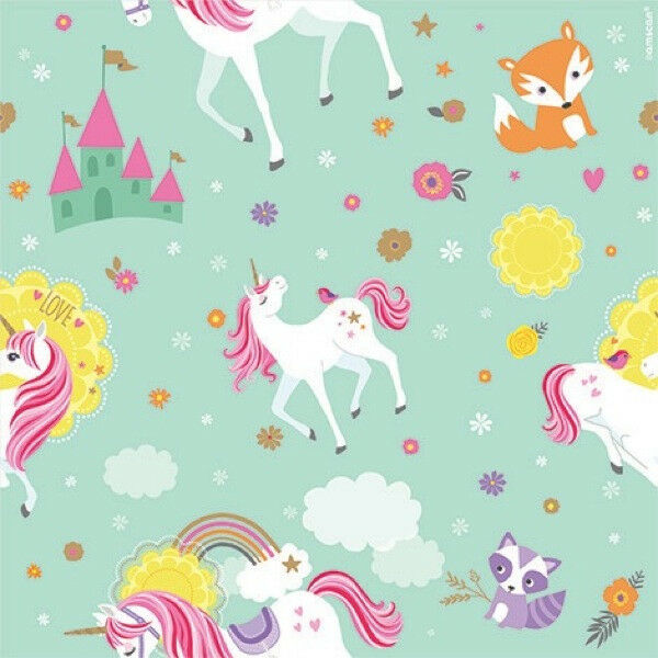 MAGICAL UNICORN ROLL OF GIFT WRAP Birthday Party Supplies Paper Decorations For Sale Online