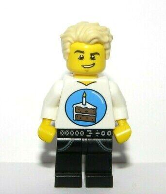 Lego Birthday Girl Minifigure Brown Hair Reversible Head Celebration Cake Party