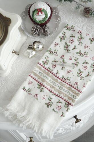 Clayre /& Eef Geschirrtuch Handtuch Frotteé Weihnachten Shabby Chic Landhaus