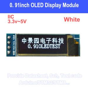 1PCS-IIC-I2C-0-91-034-128x32-white-OLED-LCD-Display-Module-3-3v-5v-For-Arduino