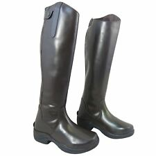 Womens Horse Riding Showing Jumping 1/2 Synthetic 1/2 Leather Competition Boots