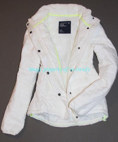 NWT American Eagle AEO AE Womens Lightweight Puffer Jacket White XS,S,M,L,XL,2XL