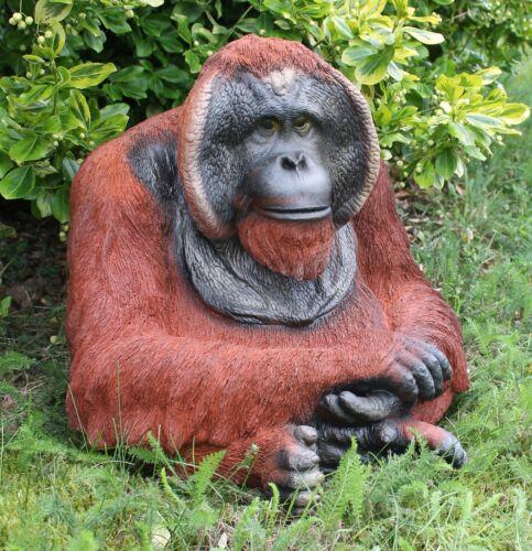 """Dekofigur Orang Utan /""""Gregor/"""" Affe Menschenaffe Primaten Gartenfigur Tierdeko"""