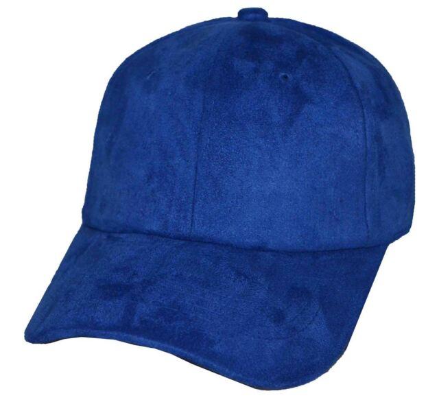 Nissi Men s Suede Adjustable Baseball Cap Royal Blue for sale online ... 06c7ae6fec6