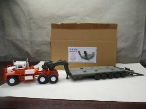 ASAM-Widebed-Lowloader-Trailer-Road-Matt-Green-ONLY-1-48-Tractor-NOT-Included