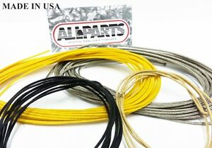 Stupendous Vintage Guitar Cloth Wire For Fender And Gibson Black White Yellow Wiring Database Wedabyuccorg