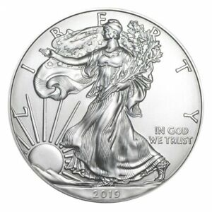 Silver 1 ounce American Eagle from the US Mint (2019)