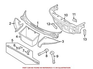 For-BMW-Genuine-Cowl-Side-Panel-Front-Left-51747333879