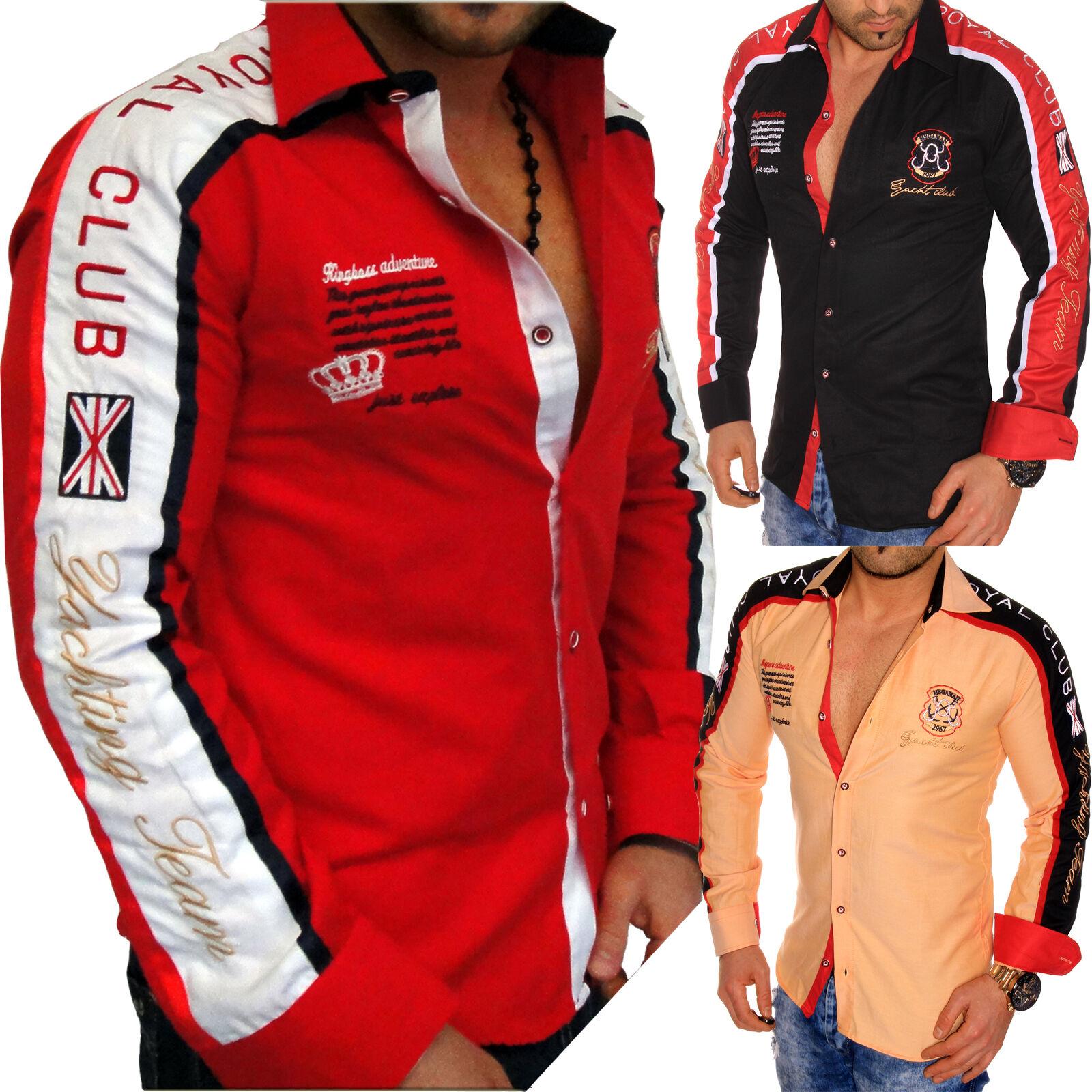 Langarm Herren Männer Hemd Hemden Slim Fit Club Yachting Polo Men Slim-Fit NEU   | Erste Kunden Eine Vollständige Palette Von Spezifikationen  | Verkaufspreis  | Sonderpreis