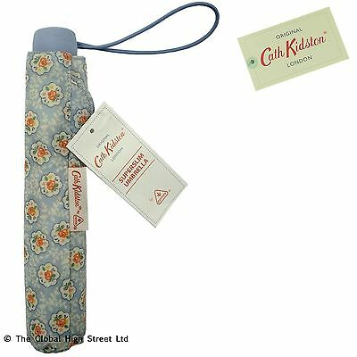 Cath Kidston Slimline Umbrella Kempton Rose (blue) *100% authentic*  *BNWT*