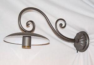 Applique anche per esterno grande art ferro battuto forgiato