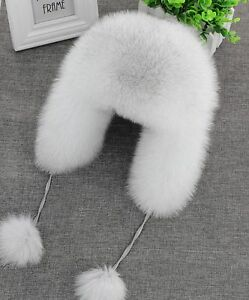 On Sale Fox fur Russian Ushanka Aviator trapper Hat cap