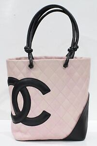 Used-Authentic-Chanel-Cambon-Medium-Pink-Bag-1216