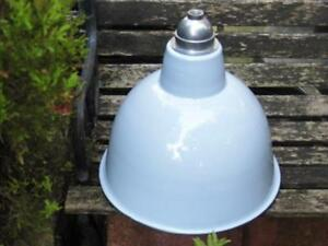 FABULOUS LARGE INDUSTRIAL FACTORY STYLE DOVE GREY ENAMEL CEILING LIGHT SHADE - london, United Kingdom - FABULOUS LARGE INDUSTRIAL FACTORY STYLE DOVE GREY ENAMEL CEILING LIGHT SHADE - london, United Kingdom