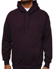 Hooded Plain Black Sweatshirt Top Men Women Pullover Hoodie Fleece Cotton Blank
