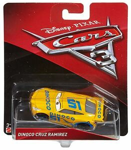Disney Pixar Cars 3 Dinoco Cruz Ramirez Die Cast Toy Car Vehicle