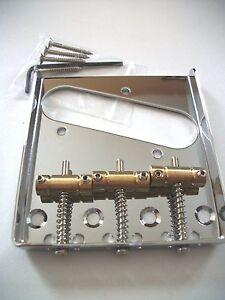 NUEVO-puente-cromado-TELECASTER-vintage-3-cobre-para-guitarra-Fender-TELE