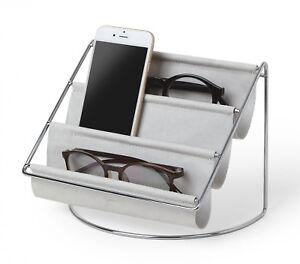 Umbra Hammock Organizer Ablage Aufbewahrung Brillenaufbewahrung Leder Grau 18 cm