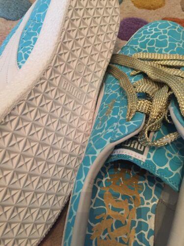 11 Atoll blue Uk puma white 46 L 2008 Rare Clyde Eur Puma Leather Rob Gold xn0PwY7gq