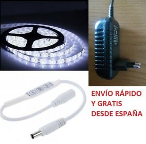 Tira-Led-3528-a-12V-Resistente-al-Agua-con-Transformador-y-Mini-Regulador-Dimmer