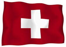 Sticker decal vinyl decals national flag car ensign bumper switzerland swiss