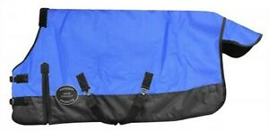 Showman-BLUE-PONY-amp-YEARLING-Size-56-034-62-034-Waterproof-Breathable-Turnout-Blanket